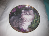 """Franklin Mint limited edition plate """"Purrfection"""""""