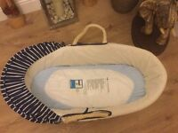 Moses Basket with mattress, excellent condition