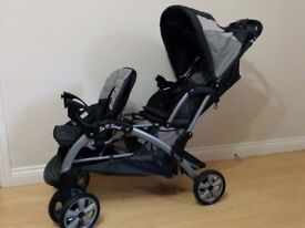 Baby Trend Sit 'N Stand Double Travel Stroller, Child Twins Foldable