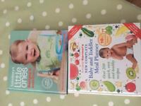 2 x baby weaning books