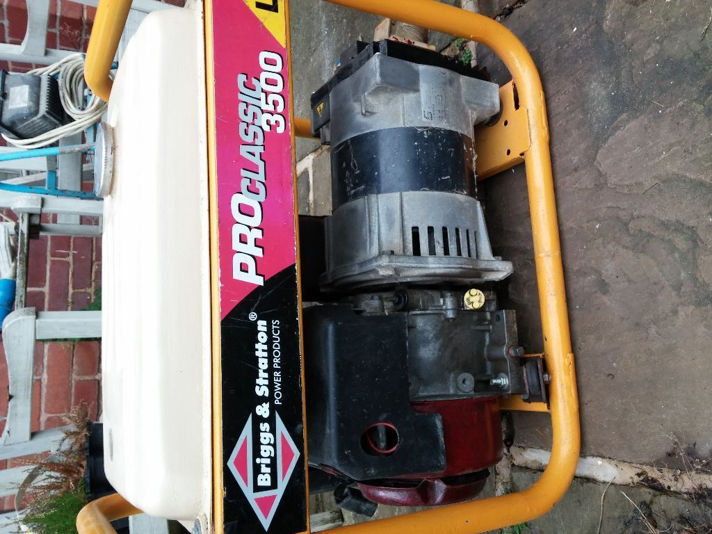 Briggs And Stratton Pro Classic 3500 Generator In Sheffield South Electrical Wiring