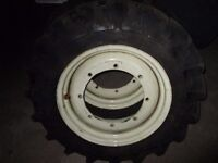 Pair of Michelin tractor tyres