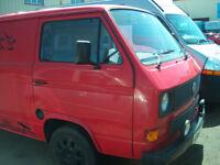 vw t25 converted panel van diesel 1987 gwo with spare sliding door REDUCED PRICE ideal surfer van