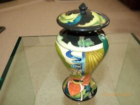 MOORCROFT LIDDED JAR – ''RYDEN FIELDS'' ## MUST SELL## - BY EMMA BOSSOM