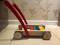 Wooden Kids Alphabet Pushchair