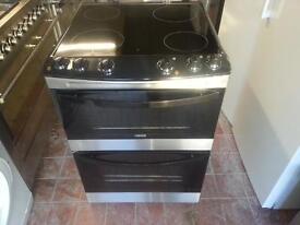 Zanussi ceramic cooker new graded bblack and chrome fornt 60 cm