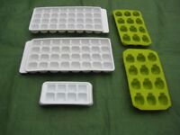 5 Various Ice Cube Trays - All for £2.00