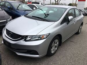2015 Honda Civic Sedan LX | ECON | BLUETOOTH| REAR CAM | AUTO |