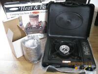 ( Heat & Eat ) Portable Gas Stove & Heater attachment.