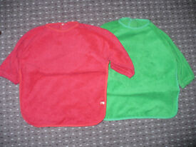 Bundle of 2 Coloured Bibs/ Coveralls from Mothercare. Good condition.