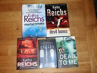 BUNDLE OF 5 USED KATHY REICHS 'TEMPERENCE BRENNAN' BOOKS