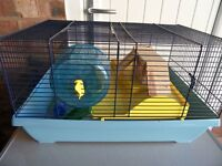 HAMSTER CAGE, WITH ACCESSORIES.
