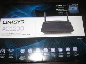 Linksys Smart Wireless AC 1200 Dual Band Wifi Router. 4 Ethernet Port. Fast Streaming Android Box. TV. Netflix. Computer