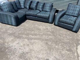 Grey corner sofa & arm chair sofas, couches, furniture 🚚🚛🚚