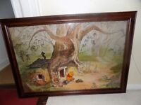 *BUNDLE* Winnie The Pooh Pictures Frames Bedding Curtains Light Shade
