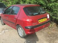 PEUGEOT 206 LX AUTO 2000- FOR PARTS ONLY