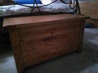 Blanket box solid oak