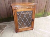 Glass Front side table Storage unit Delivery Available £10