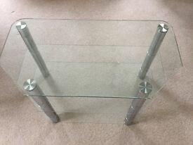 Glass TVstand with Chrome Supports no scratches,