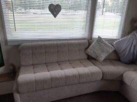 Mobile home fixed sofa and sofa bed
