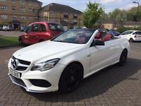 MERCEDES E220 CDI CONVERTIBLE AMG SPORT PLUS 7G TRONIC - WHITE WITH RED LEATHER - BMW AUDI VW