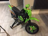 Children's electric ride on 6v motorbike with stabilisers