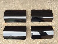Ford Fiesta ST JACK POINT COVERS Black (02 - 08) Zetec S Breaking Spares sideskirts jacking mk6
