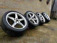 "L@@K GENUINE RONAL 19"" AUDI 5X112 VW SEAT SKODA ALLOYS WITH TYRES"