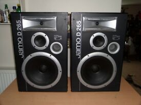Jamo D265 Loud Speakers - Huge Woofers with Loads of Bass! Great Sound