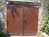 2 x Wooden Garage Doors - good condition