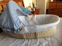 Mothercare moses basket. Excellent condition, hardly used.