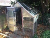 Glass Green House for Collection and dismantling by buyer 2.6m x 2m x 2m height. Glass panes 61x61cm