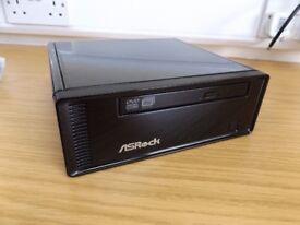 ULTRA SMALL MEDIA PC WITH REMOTE / 60GB SSD / WIRELESS