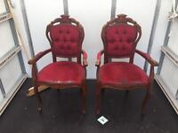 2 Carver chairs in need of attention