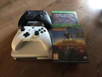 500gb Xbox One S, 2 controllers and 2 games