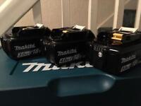 Makita 18v batteries 3–4-5AH NEW !!!!