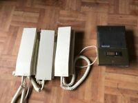 Fermax door security phone kit, includes power supply and 4 door phones