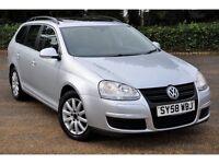 2008 Volkswagen Golf 2.0 TDI+DIESEL+ESTATE+CR SE 5dr CAMBELT KIT DONE+FREE WARANTY+