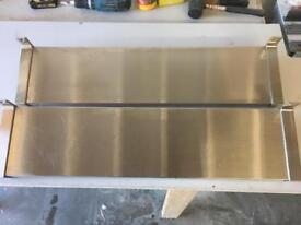 2 x shelves, stainless steel