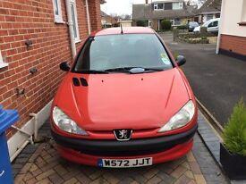 Peugeot 206 LX 1.4 Red