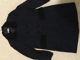 Girls Traditional Navy Coat Age 6