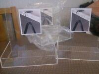 perspex holders new x 20 pcs