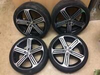 "Vw golf R 19"" Cadiz alloy wheels with tyres"
