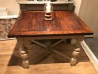 Annie Sloan Hand Painted Draw Leaf Extending Dining Table