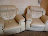 2 leather arm-chairs