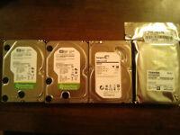 1 TB and 2 TB hard drives