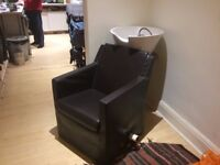 Authentic barber shop chair