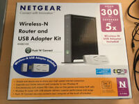 Netgear WNB2100 Wireless N Router and USB Adaptor