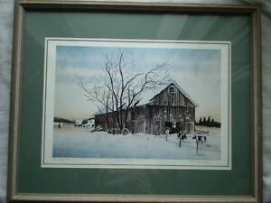"Robin Zefers Clark-""The Heifer Barn""-Limited Edition Print Kitchener / Waterloo Kitchener Area image 1"