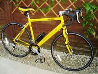 "Yellow Apollo - TDF -100, 21"" frame, 18 speed Racing Bike very good condition"